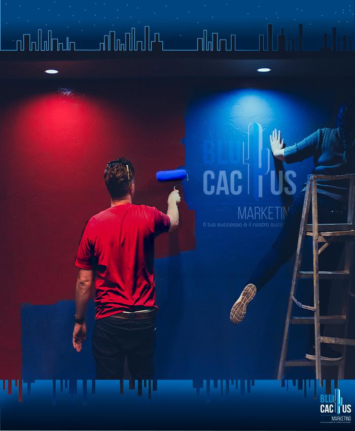 Blue Cactus - Agenzia di marketing digitale - pittura