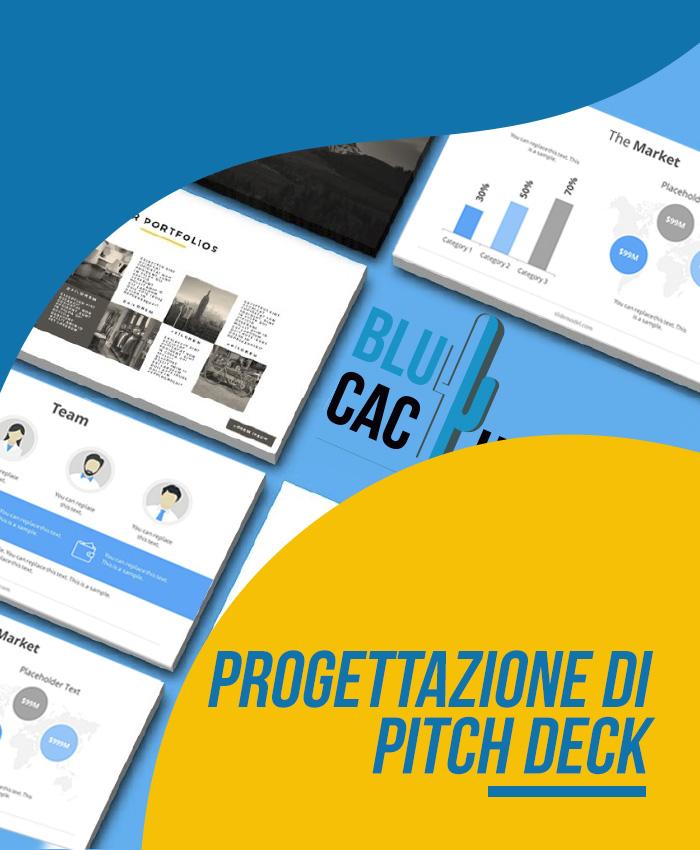 BluCactus Design di presentazione professionale Progettazione di pitch deck