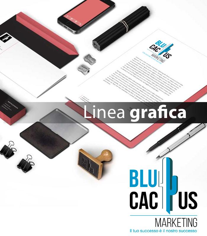 Blucactus Servizi Design d'identità aziendale Linea grafica