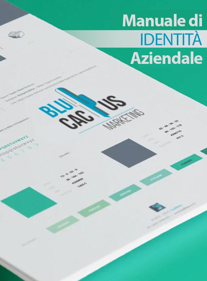 Blucactus Design d'identità aziendale Manuale d'identità aziendale